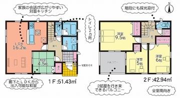 (内観/間取り1)霧島市 不動産 国分清水 新築 4LDK