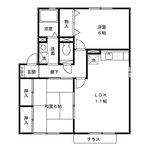 (内観/間取り1)霧島市 賃貸アパート 溝辺町麓 2LDK