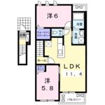(内観/間取り1)霧島市 賃貸マンション ネット無料 家賃