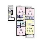 (内観/間取り1)霧島市 賃貸アパート 3LDK 家賃57