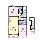 (内観/間取り1)霧島市 賃貸アパート 2LDK 56,0