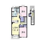 (内観/間取り1)霧島市 賃貸アパート 2LDK 家賃50