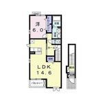 (内観/間取り1)霧島市 賃貸アパート 1LDK 家賃50