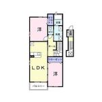 (内観/間取り1)霧島市 賃貸アパート 2LDK 家賃49