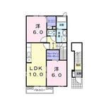 (内観/間取り1)霧島市 賃貸アパート 2LDK 家賃47