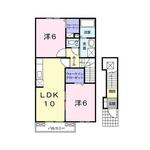 (内観/間取り1)霧島市 賃貸アパート 2LDK 家賃45