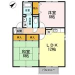 (内観/間取り1)霧島市 賃貸アパート 2LDK 家賃:4