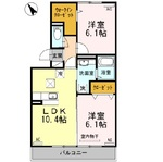(内観/間取り1)霧島市 賃貸アパート 2LDK 家賃:7